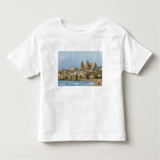 Italy, Sicily, Cefalu, View with Duomo from 2 Toddler T-shirt