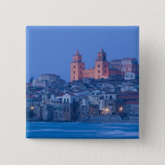 Italy, Sicily, Cefalu, View with Duomo from Button