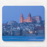Italy, Sicily, Cefalu, View with Duomo from Mouse Pad