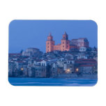 Italy, Sicily, Cefalu, View with Duomo from Rectangular Photo Magnet