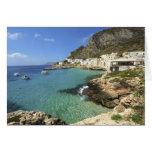 Italy, Sicily, Egadi Islands, Levanzo, Greeting Card