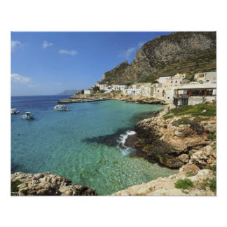 Italy, Sicily, Egadi Islands, Levanzo, Poster