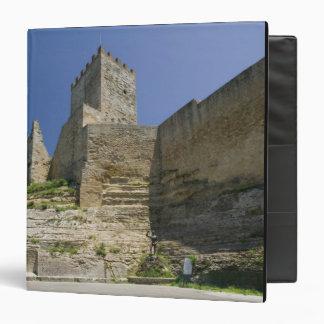 Italy, Sicily, Enna, Calascibetta, Castello di 3 Ring Binder