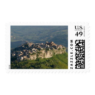 Italy, Sicily, Enna, Calascibetta, Morning View 2 Postage