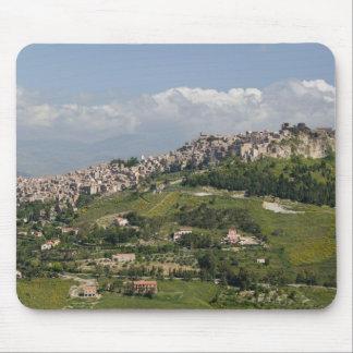 Italy, Sicily, Enna, Calascibetta, Morning View Mouse Pad