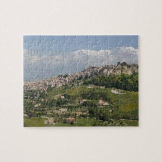 Italy, Sicily, Enna, Calascibetta, Morning View Puzzles