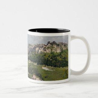 Italy, Sicily, Enna, Calascibetta, Morning View Two-Tone Coffee Mug
