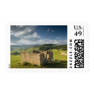 Italy, Sicily, Enna, Pergusa, Old Farmhouse Stamp