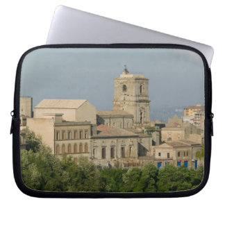 Italy, Sicily, Enna, Town View from Rocca di 2 Laptop Computer Sleeves