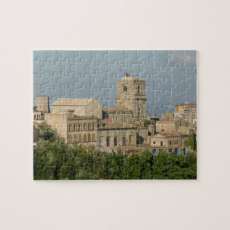 Italy, Sicily, Enna, Town View from Rocca di 2 Jigsaw Puzzles