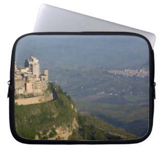 Italy, Sicily, Enna, Town View from Rocca di Laptop Sleeves