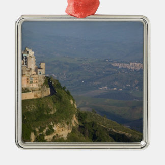 Italy, Sicily, Enna, Town View from Rocca di Metal Ornament