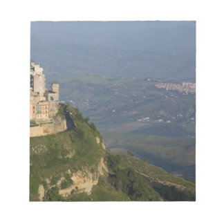 Italy, Sicily, Enna, Town View from Rocca di Notepad