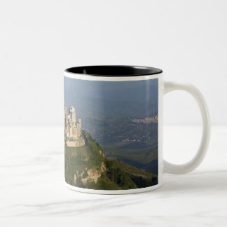 Italy, Sicily, Enna, Town View from Rocca di Two-Tone Coffee Mug