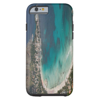 Italy, Sicily, Mondello, View of the beach from Tough iPhone 6 Case