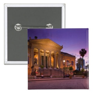 Italy, Sicily, Palermo, Teatro Massimo Opera 2 Inch Square Button