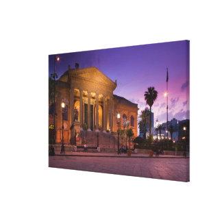 Italy, Sicily, Palermo, Teatro Massimo Opera Canvas Print