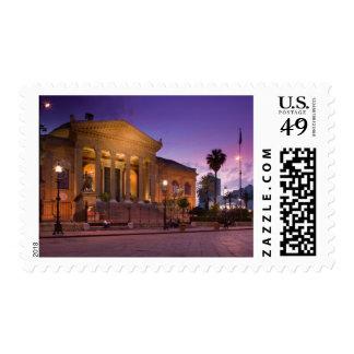 Italy, Sicily, Palermo, Teatro Massimo Opera Postage