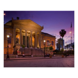 Italy, Sicily, Palermo, Teatro Massimo Opera Poster