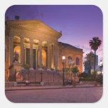 Italy, Sicily, Palermo, Teatro Massimo Opera Square Sticker
