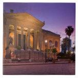 Italy, Sicily, Palermo, Teatro Massimo Opera Ceramic Tile