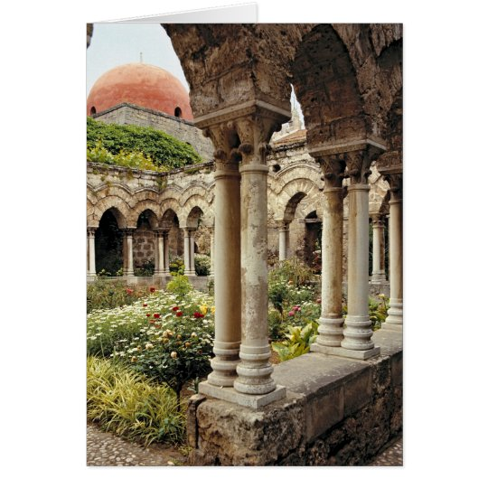 Italy, Sicily, Palermo. The cloisters survive as Card