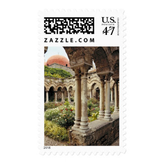 Italy, Sicily, Palermo. The cloisters survive as Postage