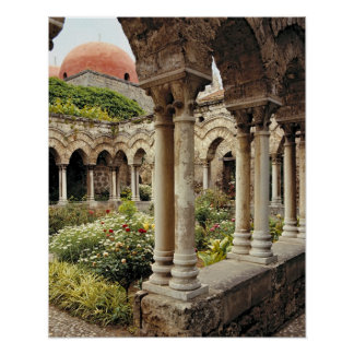 Italy, Sicily, Palermo. The cloisters survive as Posters