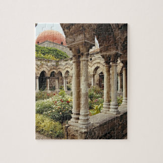 Italy, Sicily, Palermo. The cloisters survive as Jigsaw Puzzle