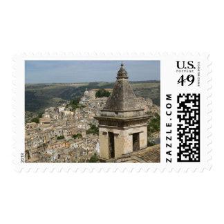 ITALY, Sicily, RAGUSA IBLA: Town View and Santa Postage