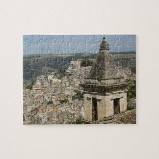 ITALY, Sicily, RAGUSA IBLA: Town View and Santa Jigsaw Puzzle