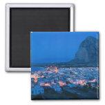 Italy, Sicily, SAN VITO LO CAPO, Resort Town 2 Inch Square Magnet