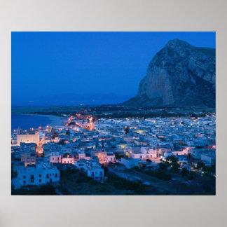 Italy, Sicily, SAN VITO LO CAPO, Resort Town Print