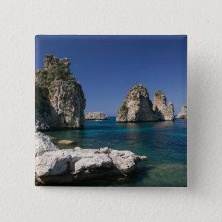 Italy, Sicily, Scopello, Rocks by Tonnara Button