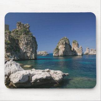 Italy, Sicily, Scopello, Rocks by Tonnara Mouse Pad