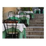 ITALY, Sicily, TAORMINA: Corso Umberto 1, Cafe Postcard