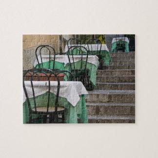 ITALY, Sicily, TAORMINA: Corso Umberto 1, Cafe Jigsaw Puzzles