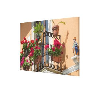 ITALY, Sicily, TAORMINA: Corso Umberto 1, Stretched Canvas Print