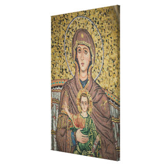 ITALY, Sicily, TAORMINA: Corso Umberto 1, Mosaic Stretched Canvas Print