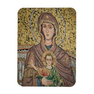 ITALY, Sicily, TAORMINA: Corso Umberto 1, Mosaic Rectangular Photo Magnet