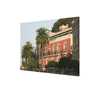 ITALY, Sicily, TAORMINA: Hotel Schuler Stretched Canvas Print
