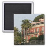 ITALY, Sicily, TAORMINA: Hotel Schuler 2 Inch Square Magnet