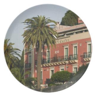 ITALY, Sicily, TAORMINA: Hotel Schuler Plate