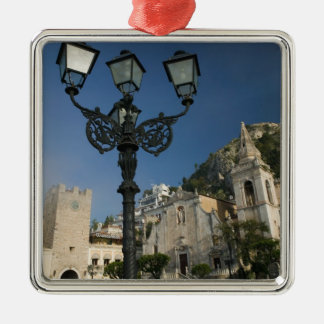 ITALY, Sicily, TAORMINA: Piazza iX Aprile, San Metal Ornament