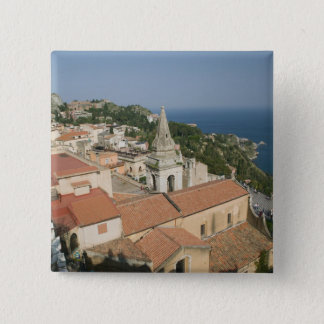 ITALY, Sicily, TAORMINA: View towards Piazza IX Button