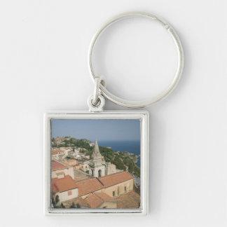 ITALY, Sicily, TAORMINA: View towards Piazza IX Keychain
