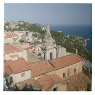 ITALY, Sicily, TAORMINA: View towards Piazza IX Ceramic Tile