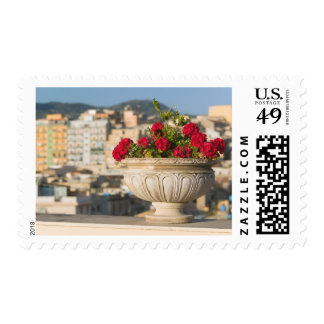 Italy, Sicily, Termini Imerese, View & Flowers Postage