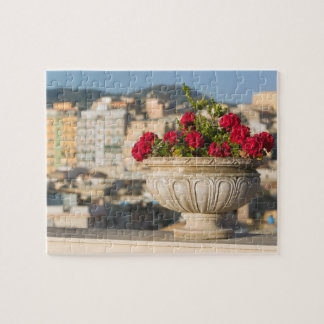 Italy, Sicily, Termini Imerese, View & Flowers Jigsaw Puzzles