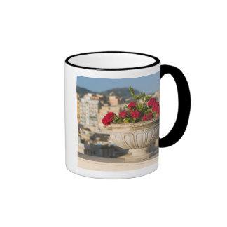 Italy, Sicily, Termini Imerese, View & Flowers Ringer Mug